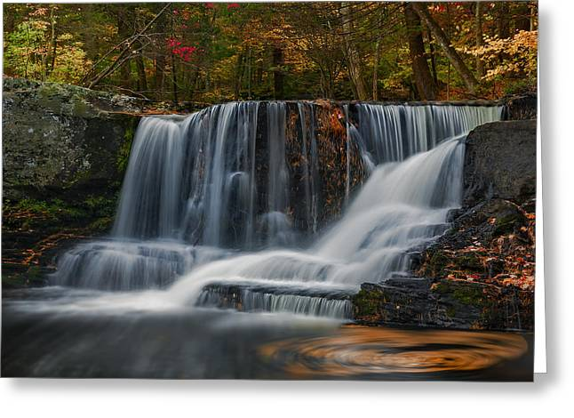 Natures Waterfall And Swirls Greeting Card by Susan Candelario