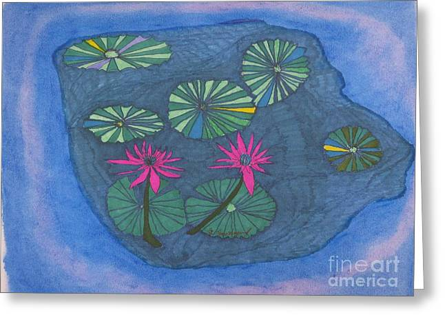 Nature's Wheels In A Pond Greeting Card by James SheppardIII