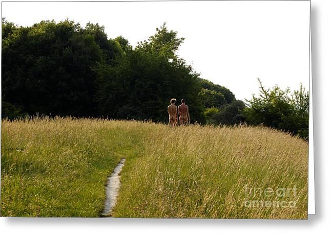 Naturist Danube Island Vienna Austria 2009 Greeting Card by Wayne Higgs