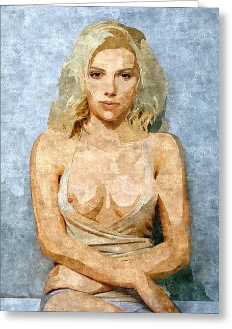 Naughty Scarlett Nude Greeting Card