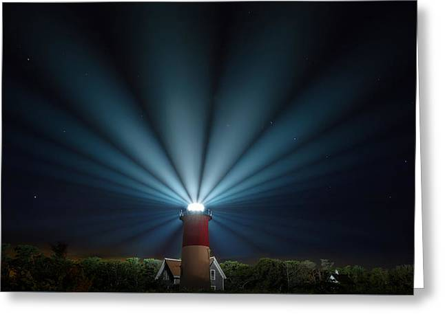 Nauset Beach Light Greeting Card by Bill Wakeley