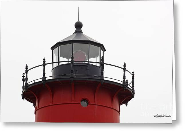 Nauset Lighthouse Detail Greeting Card by Michelle Wiarda