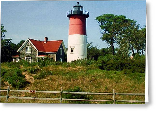 Greeting Card featuring the photograph Nauset Lighthouse by Frederic Kohli