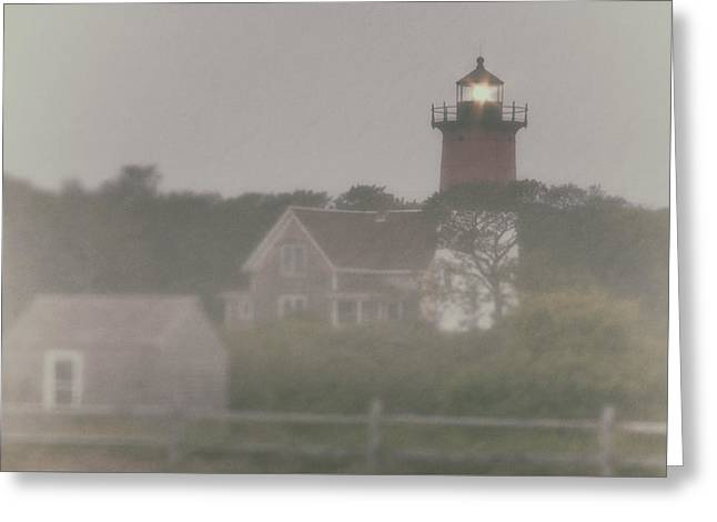 Nauset Lighthouse In Red And White From Early Morning To Late Greeting Card