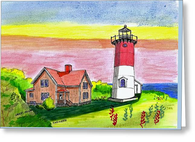Nauset Point Lighthouse Greeting Card by Paul Meinerth