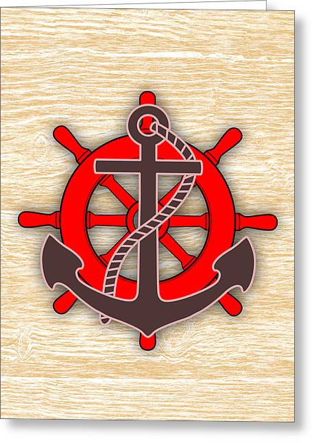 Nautical Collection Greeting Card by Marvin Blaine