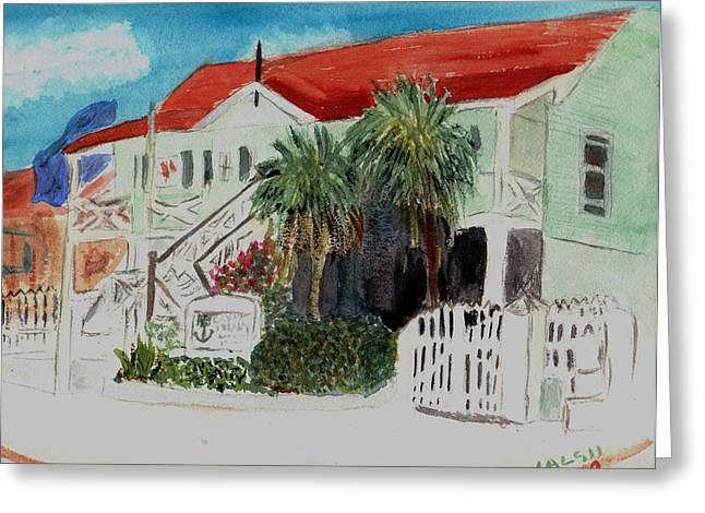 Nautical Museum Georgetown Greeting Card by Donna Walsh