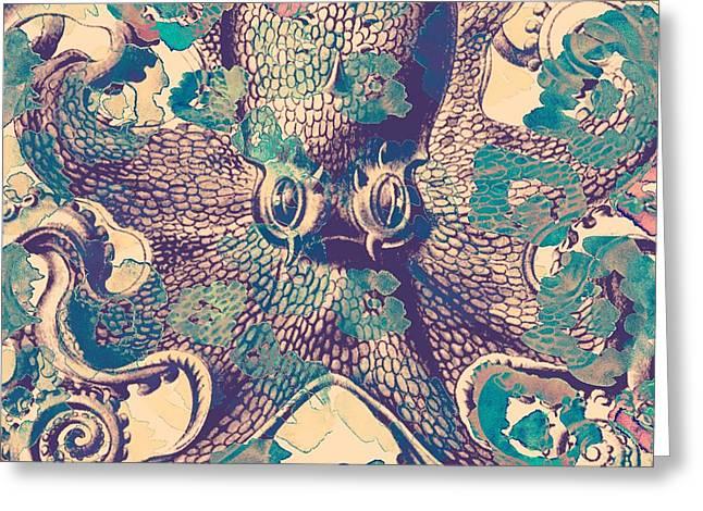 Nautical Octopus Greeting Card