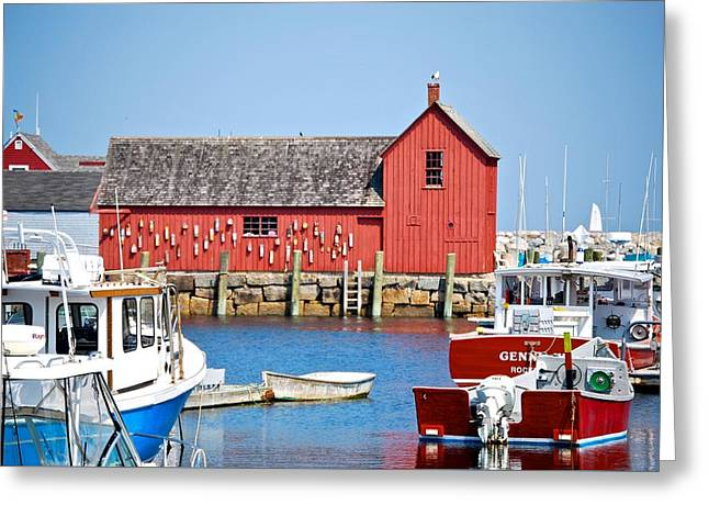 Nautical Rockport Days Greeting Card