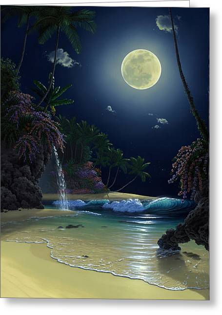 Nautilus Moon Greeting Card by Al Hogue