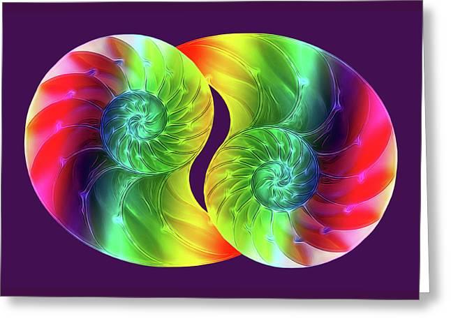 Nautilus Rainbow Greeting Card