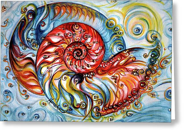 Nautilus Shell - Ocean Greeting Card