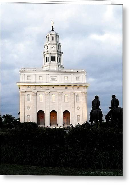 Nauvoo Temple At Dusk Greeting Card by Jan  Tribe