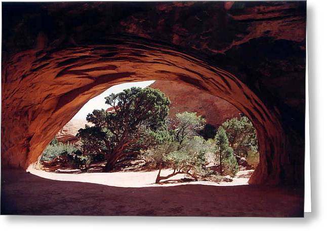 Navajo Arch Greeting Card by Kathy Schumann