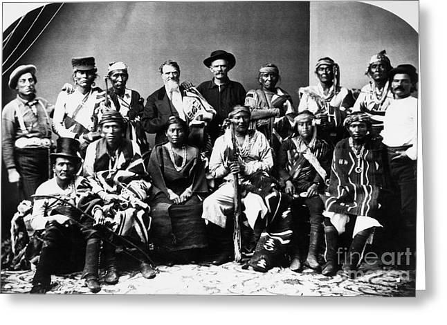 Navajo Delegation, C1874 Greeting Card by Granger