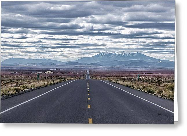 Navajo Route 15 Greeting Card by Charles Ables