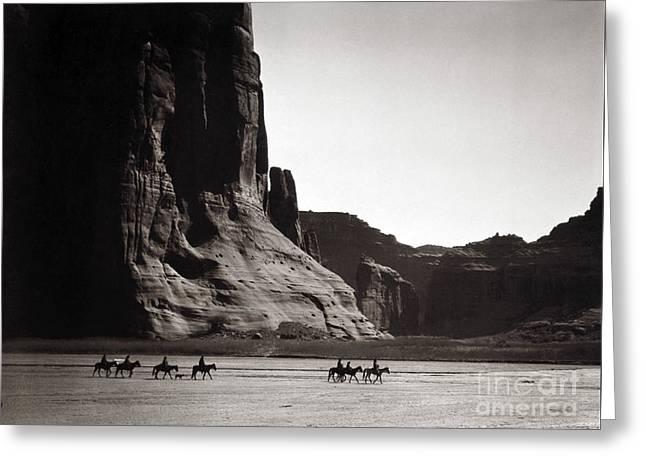Navajos Canyon De Chelly, 1904 Greeting Card