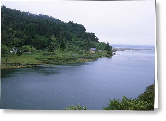 Navarro River Mouth Greeting Card by Soli Deo Gloria Wilderness And Wildlife Photography
