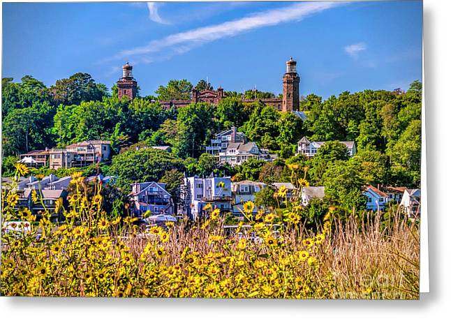 Navesink Light On The Hill Greeting Card