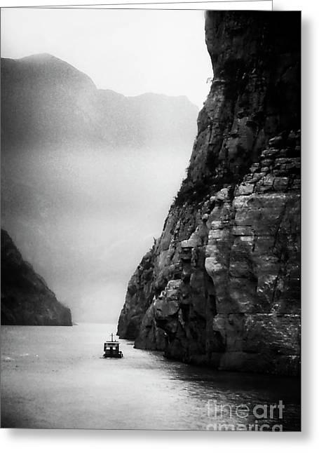 Navigating The Yangtze Greeting Card by Scott Kemper