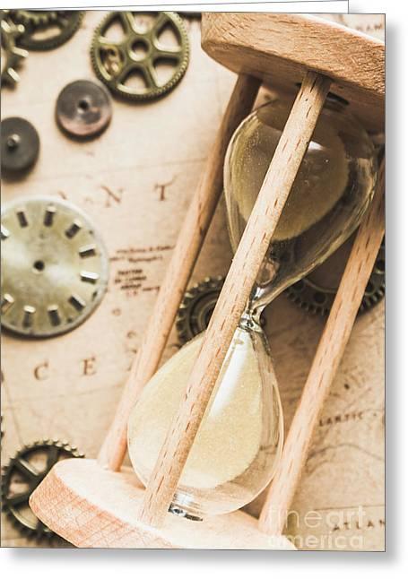 Navigating Vintage Time Greeting Card