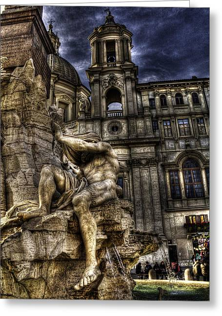 Navona 1 Greeting Card by Brian Thomson
