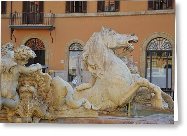 Navona Fountain Greeting Card by JAMART Photography