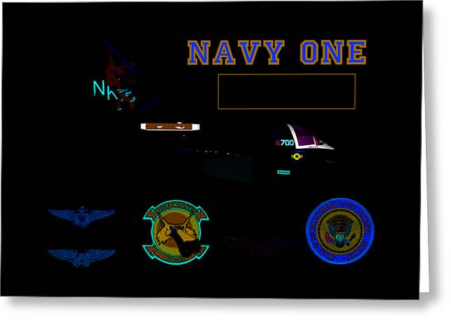 Navy One Greeting Card