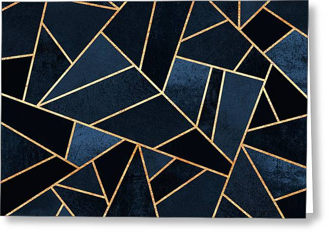 Navy Stone Greeting Card