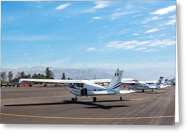 Nazca Airport Greeting Card by Jess Kraft