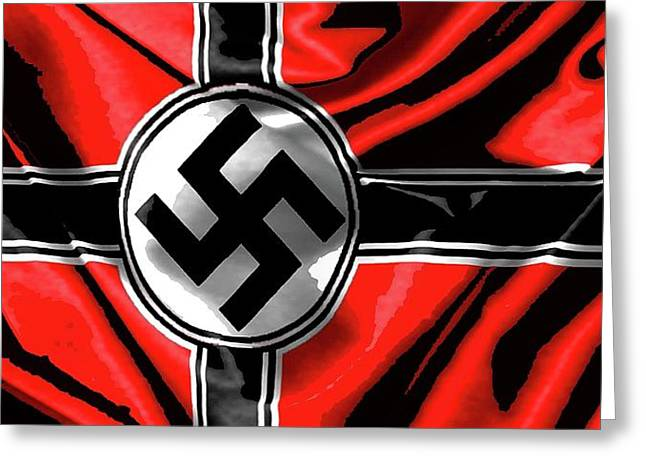 Nazi Flag Color Added 2016 Greeting Card