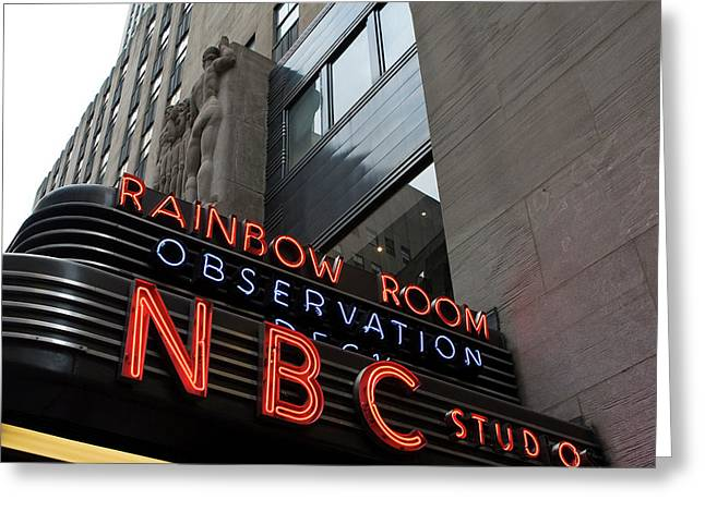Nbc Studio Rainbow Room Sign Greeting Card