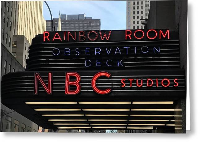 Nbc Studios Nyc  Greeting Card by CAC Graphics