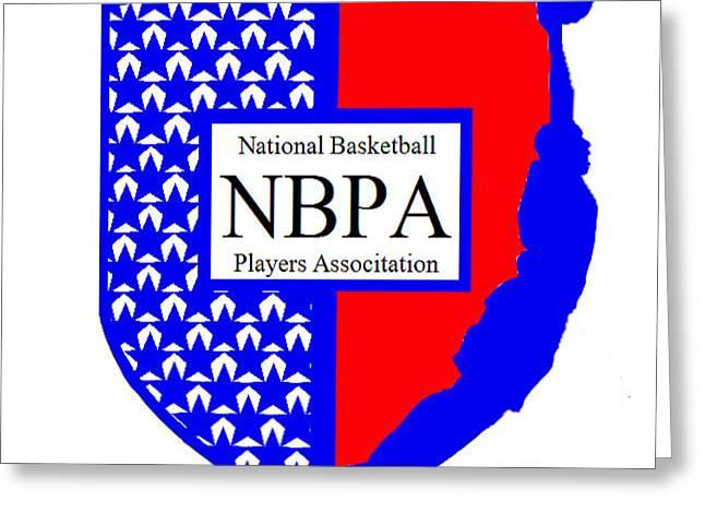 Greeting Card featuring the digital art Nbpa Logo Redesign Sample by Tamir Barkan