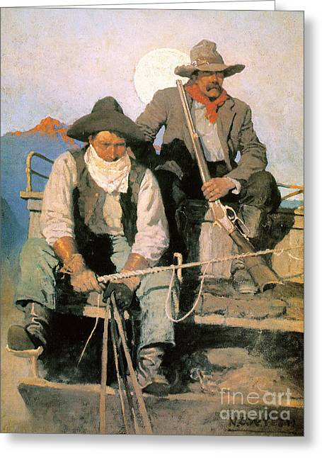 N.c. Wyeth: The Pay Stage Greeting Card