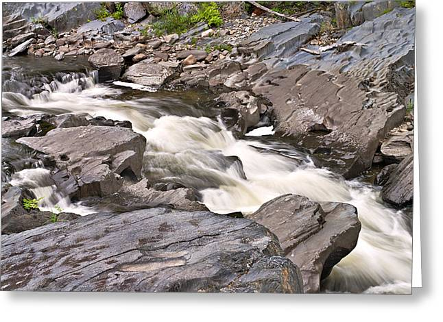 Near Barrow Falls Greeting Card by Peter J Sucy