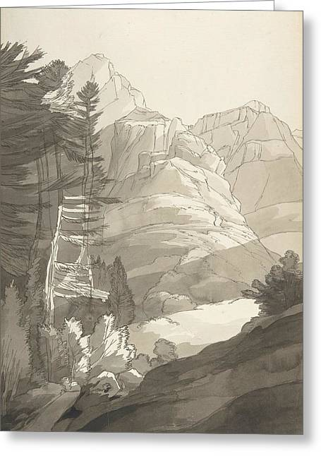 Near Glaris, Switzerland Greeting Card by Francis Towne