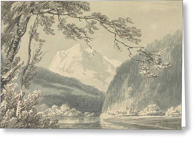 Near Grindelwald Greeting Card by Joseph Mallord William Turner