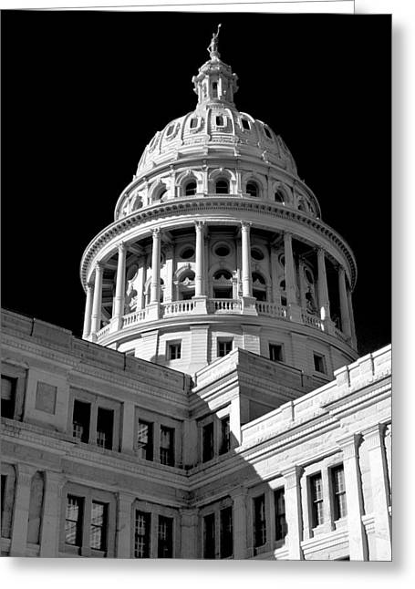 Near Infrared Image Of The Texas State Capitol Greeting Card by David Thompson