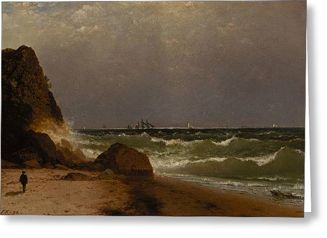 Near Newport Rhode Island Greeting Card by John Frederick Kensett