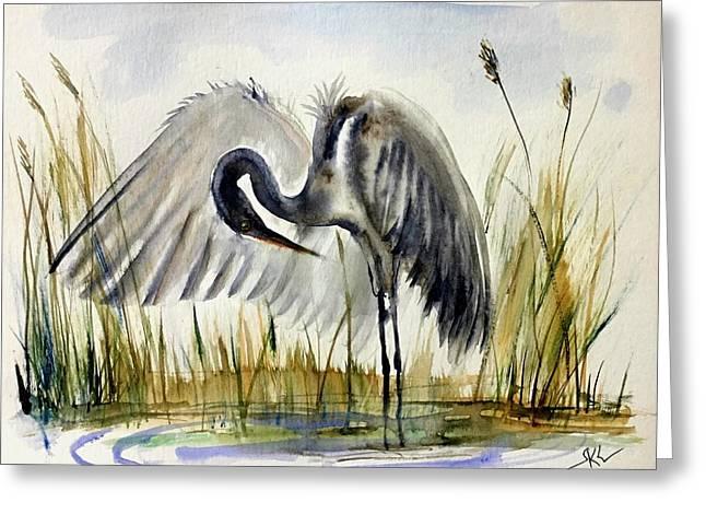 Near The Pond 3 Greeting Card