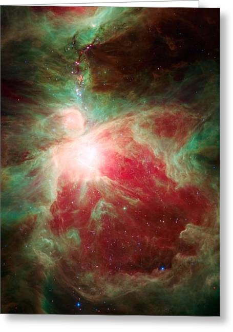 Near The Sword Of The Constellation Orion Greeting Card by American School