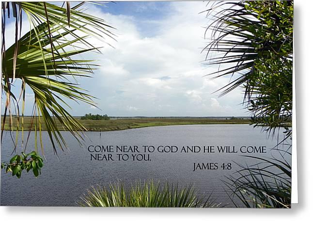Near To God Greeting Card