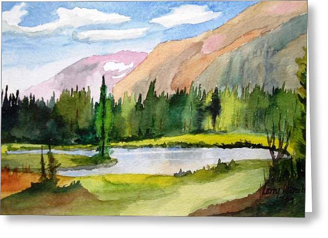 Near Two Medicine Montana Greeting Card by Larry Hamilton