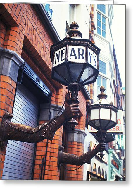 Neary's Pub Greeting Card by Carl Purcell