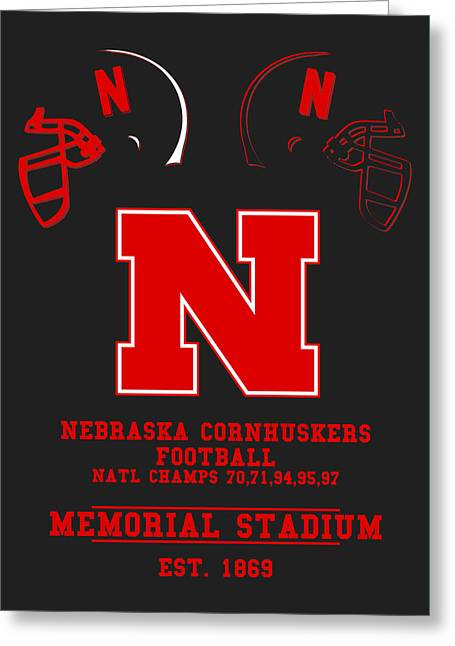 Nebraska Cornhuskers 2 Greeting Card