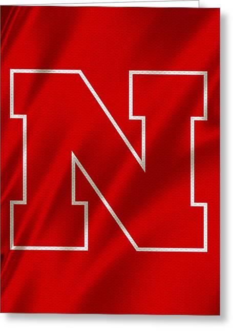 Nebraska Cornhuskers Flag Greeting Card