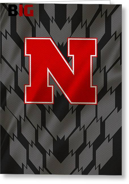 Nebraska Cornhuskers Uniform Greeting Card by Joe Hamilton