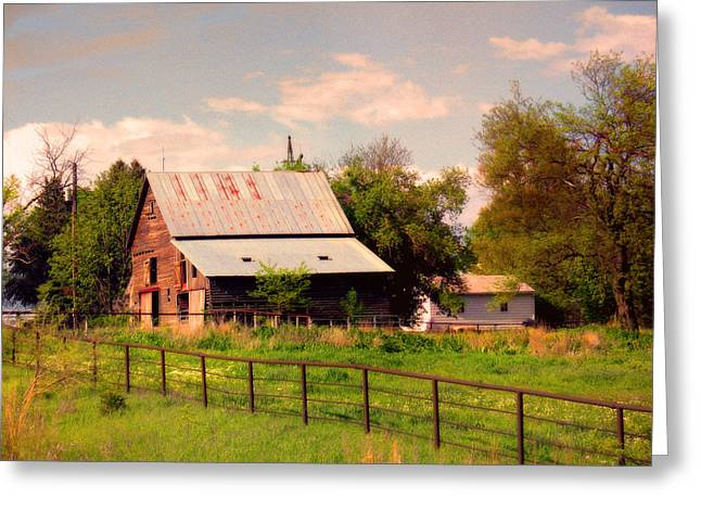 Nebraska In The Summer Afternoon Greeting Card by Tyler Robbins