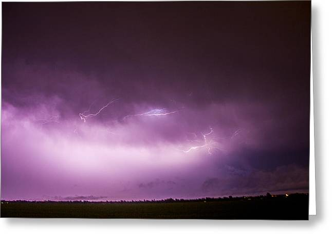 Greeting Card featuring the photograph Nebraska Night Thunderstorms 013 by NebraskaSC